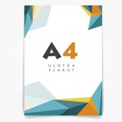 Plakat ulotka A4