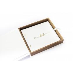 Drewniane pudełko na album 24x24cm