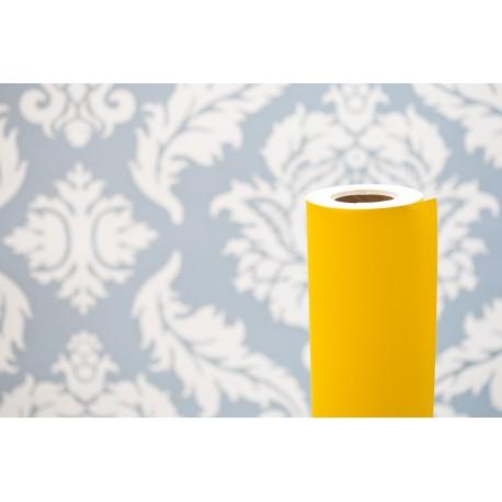 Wydruk reklamowy na żółtym papierze powlekanym 90 gram
